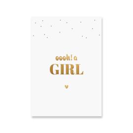 Ansichtkaart - oooh! a girl