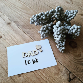 Kaart hout - dad to be
