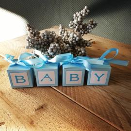 Blokkendoosje baby - blauw