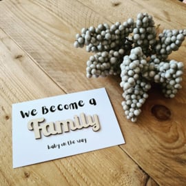 Kaart hout - We become a family