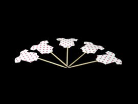 Prikker romper roze