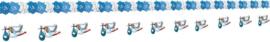 Slinger met decoratie - blauw