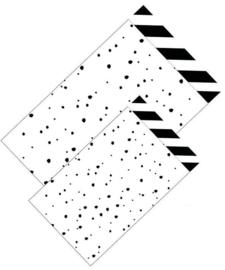 Cadeauzakje - confetti zwart/wit