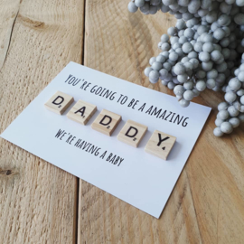 Kaart hout - You're going to be a amazing - daddy