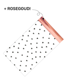 Cadeauzakje - hearts rosegold
