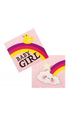 Servetten baby girl
