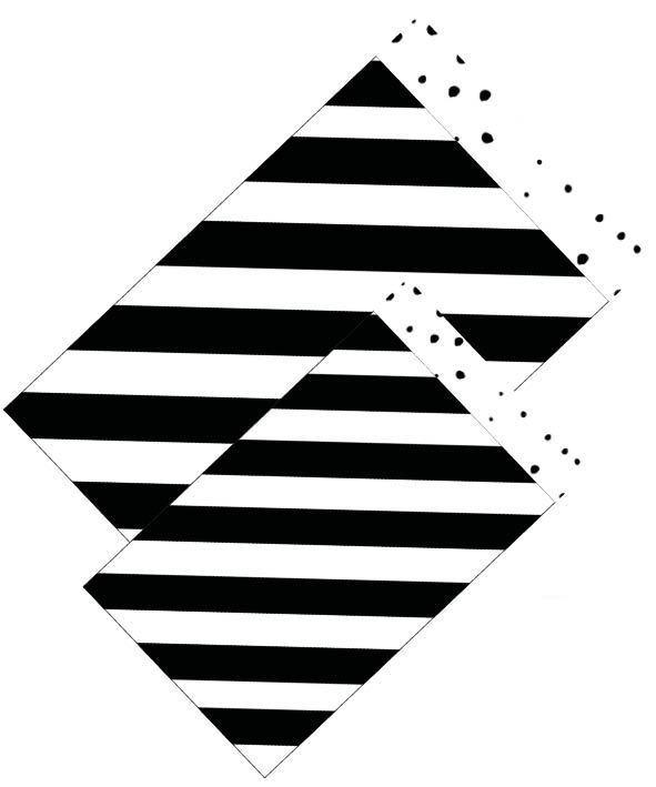 Cadeauzakje - streep zwart/wit