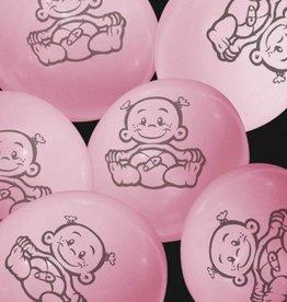 Ballonnen baby - roze
