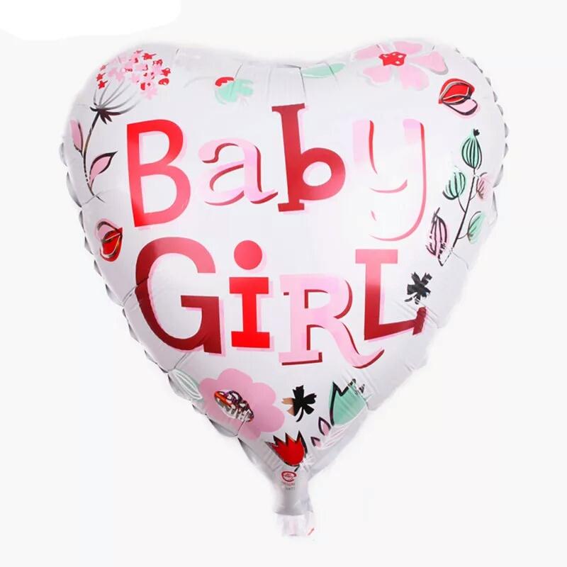 Folieballon hart - baby girl