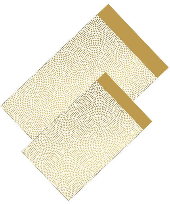 Cadeauzakje - Dots wit/goud