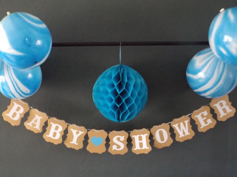 Babyshower kraft blauw