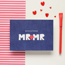 POSTCARD - GEFELICITEERD MR-MR