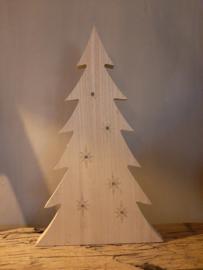 Houten kerstboom + licht