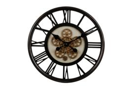Wandklok 'open uurwerk'