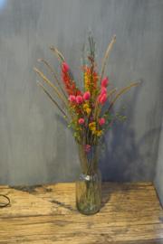 Bosje droogbloem, roze/rood