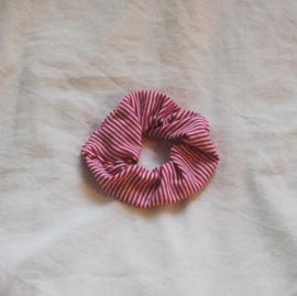 scrunchie stripes dark pink/white (tricot)
