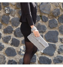 Ribbon XL Haakpatroon Clutch Charly