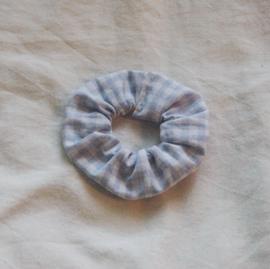 scrunchie gingham white/blue (cotton)