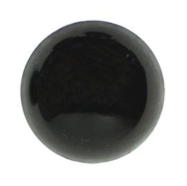 veiligheidsoogjes dia 6 mm zwart  - zakje 10 stuks