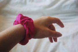 scrunchie dark pink (tricot)