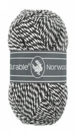 Norwool M001 Zwart/wit
