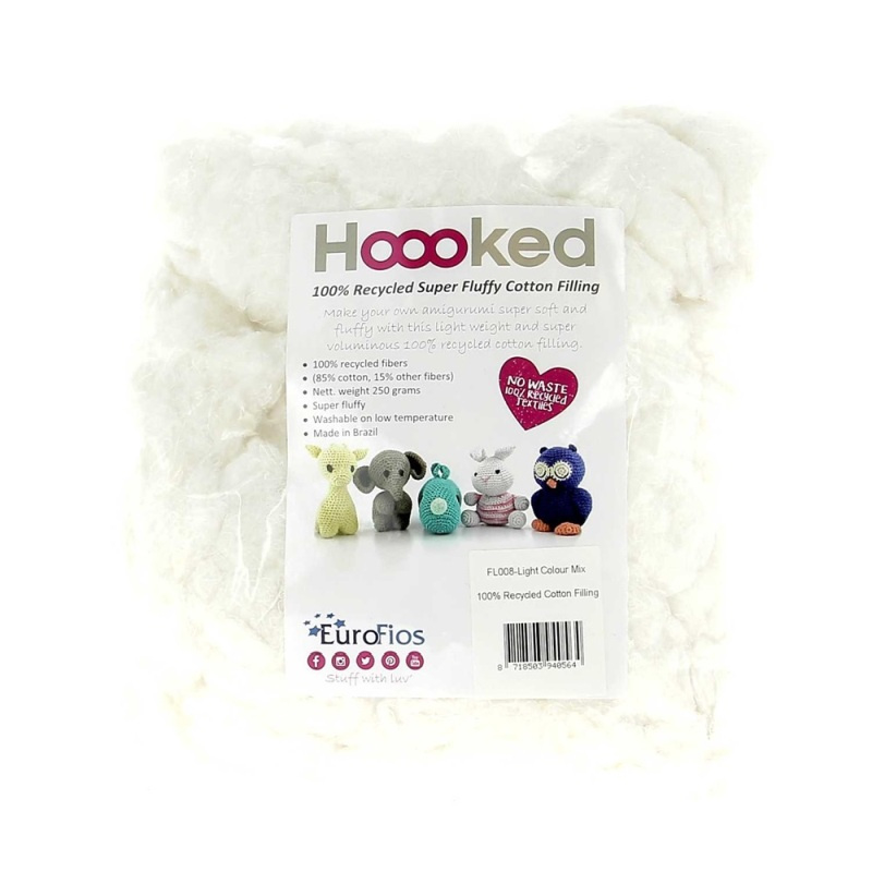 100% Recycled Zachte Katoen Vulling - Pearl