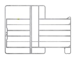 Paneel 6 met poort en voerhek hoogte 2,20 meter