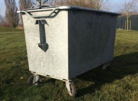 Rolcontainer staal 1000 liter 2e hands