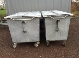 Rolcontainer staal 1300 liter 2e hands