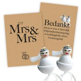 Trouwen vol geluk Basic Mrs & Mrs 25 sets