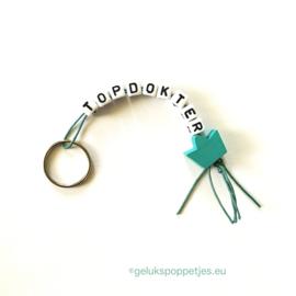 Topdokter gelukspoppetjes sleutelhangers per 25 stuks