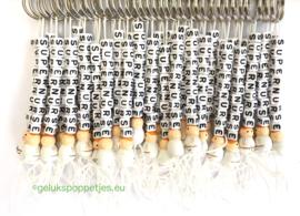 Supernurse gelukspoppetjes sleutelhanger per 25 stuks