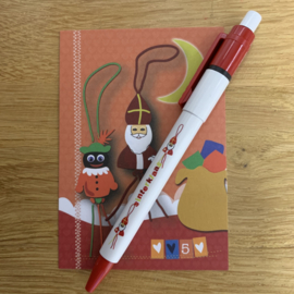 Sinterklaas gelukspoppetjes pen per 10 stuks