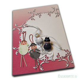 Lucky wedding couple notepad