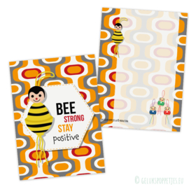 Bee strong, stay positive gelukskaartjes per 25 stuks
