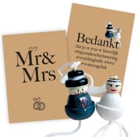 Trouwen vol geluk Basic Mr & Mrs 25 sets