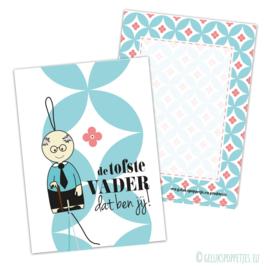 Toffe vader gelukspoppetjes kaartjes per 25 stuks