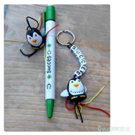 Succes gelukspoppetjes pen per 10 stuks