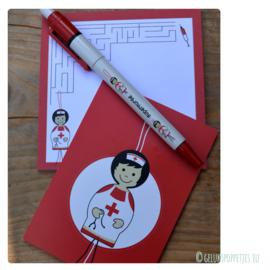 "Gelukspoppetjes pen ""supernurse"" per 10 stuks"