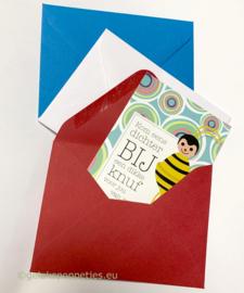 Rood-wit of blauwe envelopjes per 25 stuks