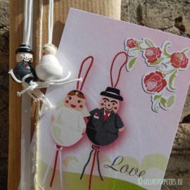 Wedding couple lucky dolls