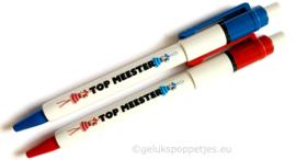Topmeester gelukspoppetjes pen (5x blauw 5x rood)