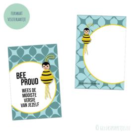 """""""Bee proud"""" positief affirmatie kaartje per 25 stuks"""