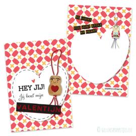 Valentijn gelukspoppetjes kaartje per 25 stuks