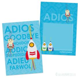Gelukskaartje ADIOS per 25 stuks