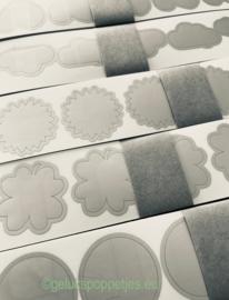 Krasstickers voor gelukspoppetjes kaartjes per 25 stuks