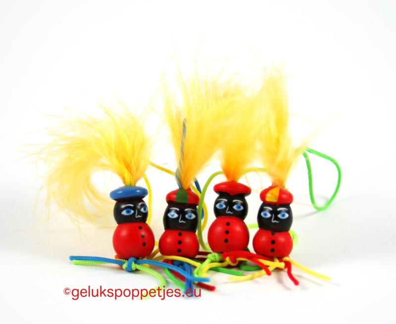 Zwarte Pietjes met veer