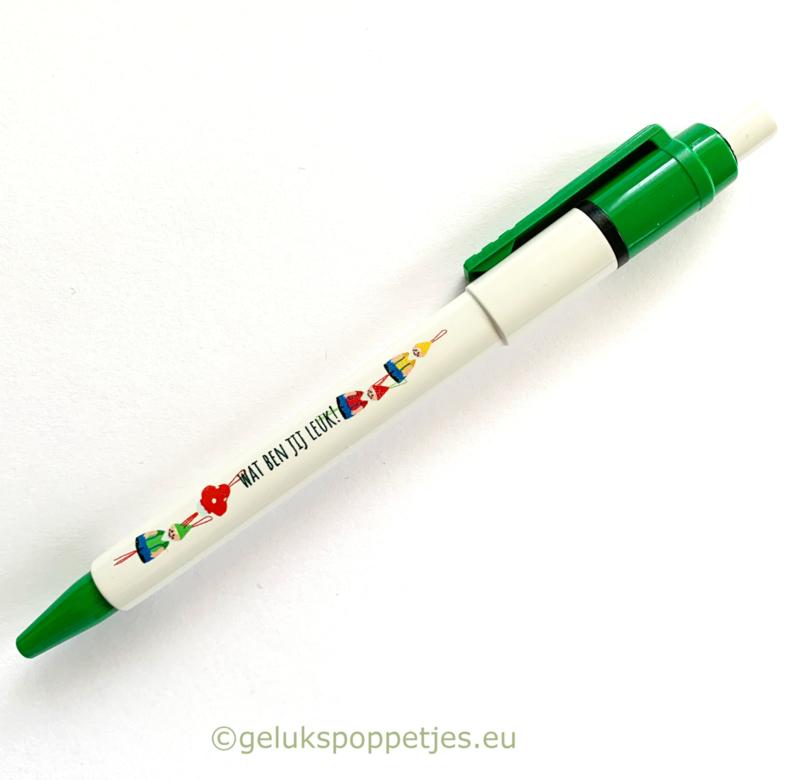 Wat ben jij leuk! Gelukspoppetjes pennen per 10 stuks