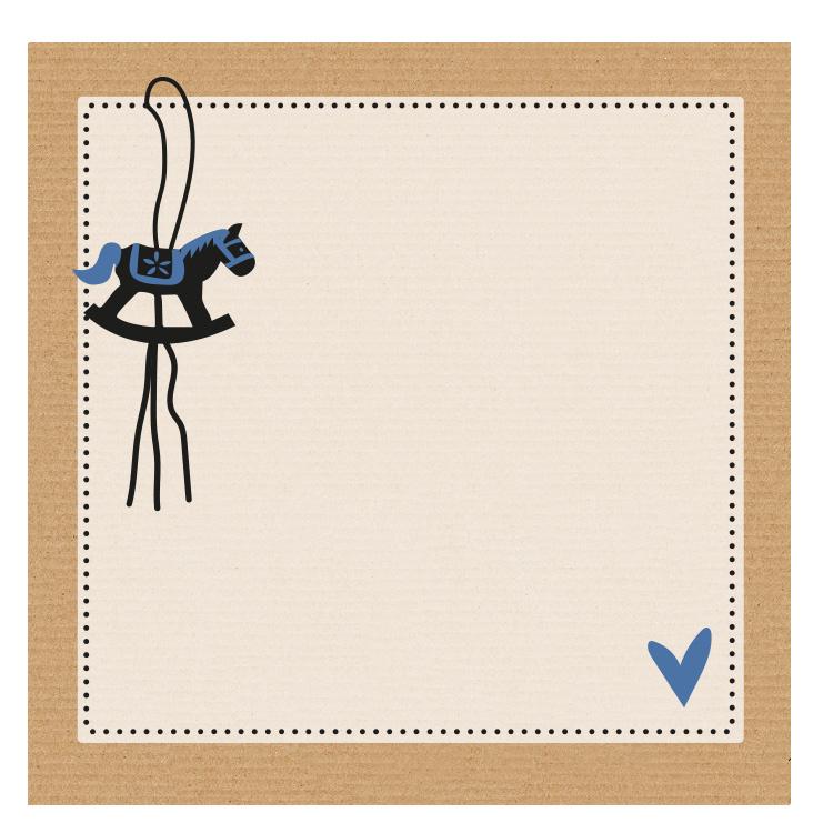 Notitieblokje hobbelpaardje blauw per 10 stuks