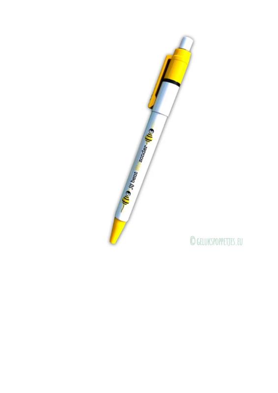 """Gelukspoppetjes pen """"jij bent BIJzonder"""" per 10 stuks"""